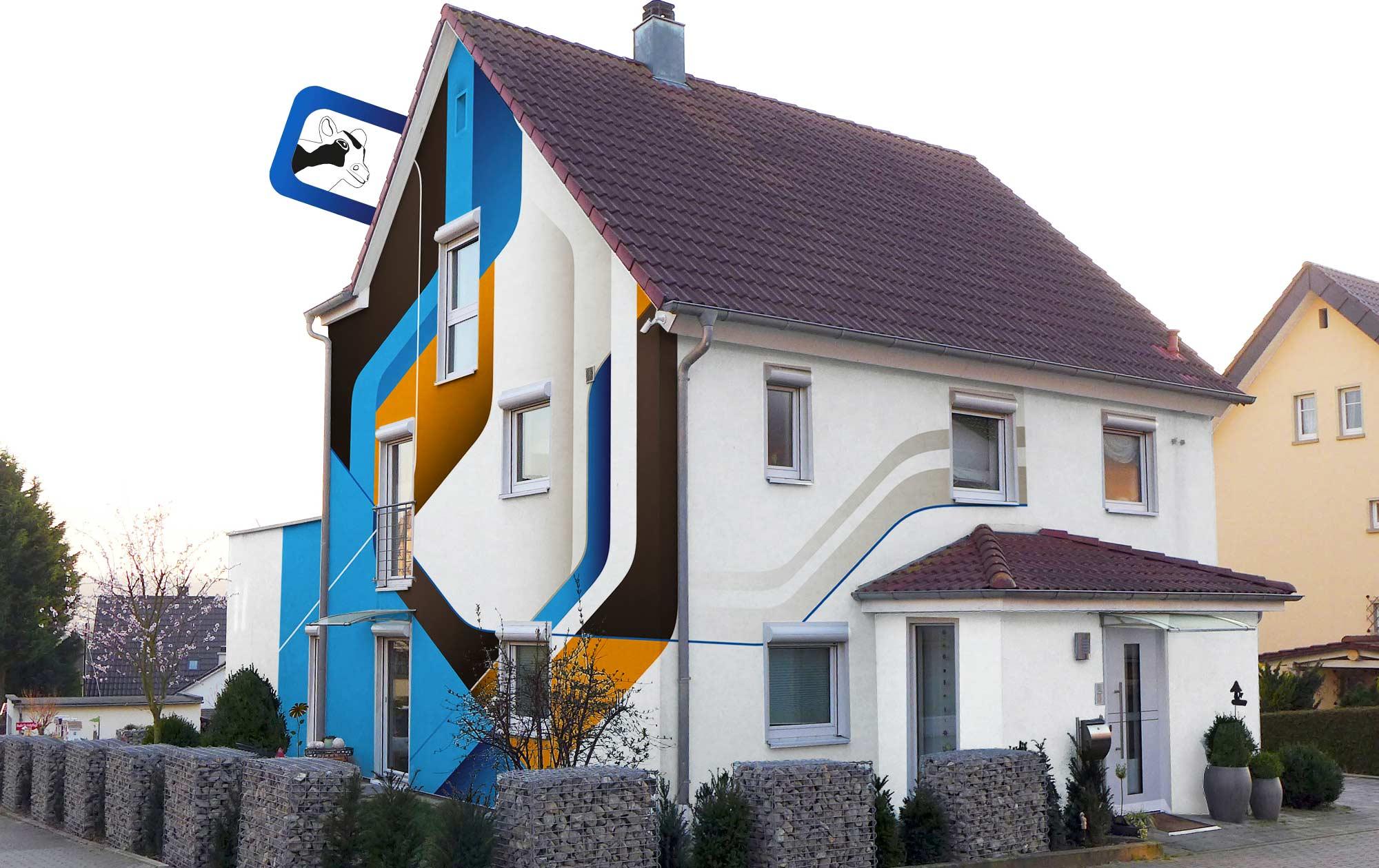 Digitale Farbberatung Fassade mit Grafiken
