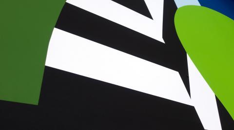 Detailansicht der Grafik-Wand